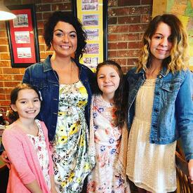 Jessika with daughters