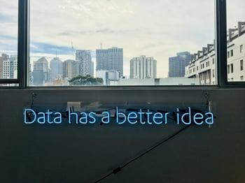 Data has a better idea sign-1