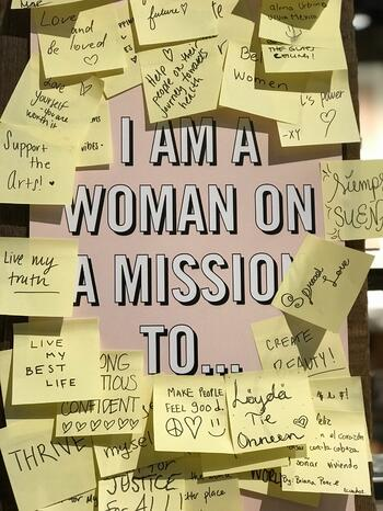 I am a woman on a mission brand definition example