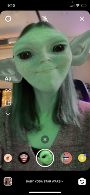 Baby Yoda starwars filters