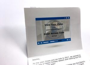 Delight your customers - Enthusem - Say it with a Personalized Card and Video in their Mailbox!