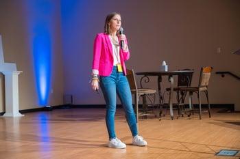 Julia Jornsay-Silverberg speaking at SMWL21