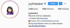 Joythebaker on IG