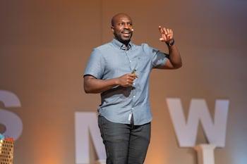 Juantae DeLane speaking at SMWL21