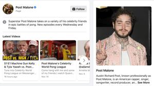 Post Malone on FB