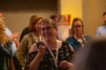 Woman laughing at SMWL21