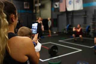 Shooting live video at a gym-1