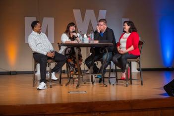 Troy Sandige, Jen Cole, Jeff Howell and Christine Gritmon speaking at SMWL21