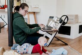 Working from home with baby