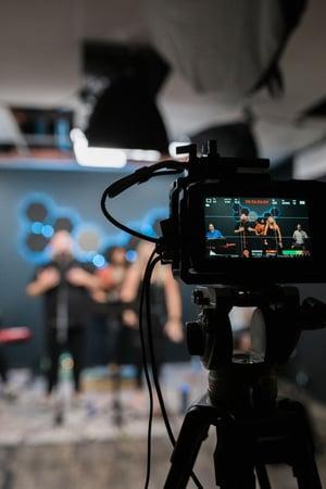 Executing a live video talkshow